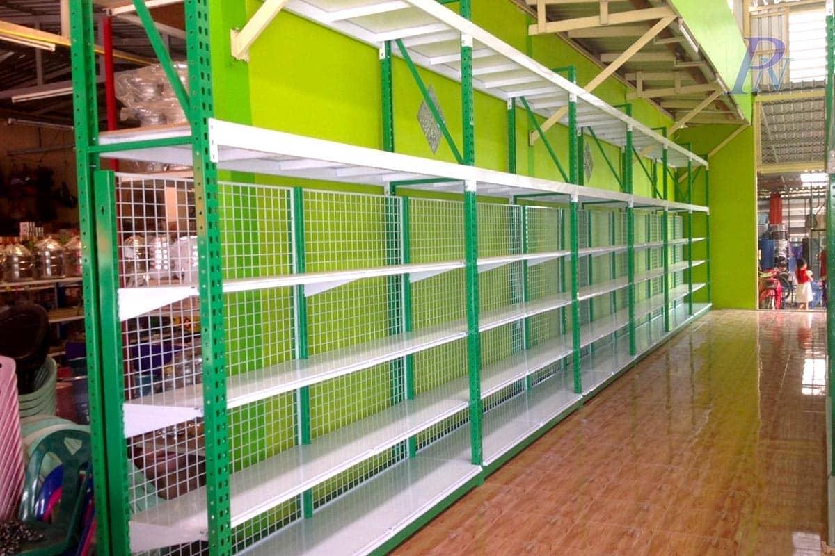 ร้านดงบังพลาสติก-แร็คสีเขียว