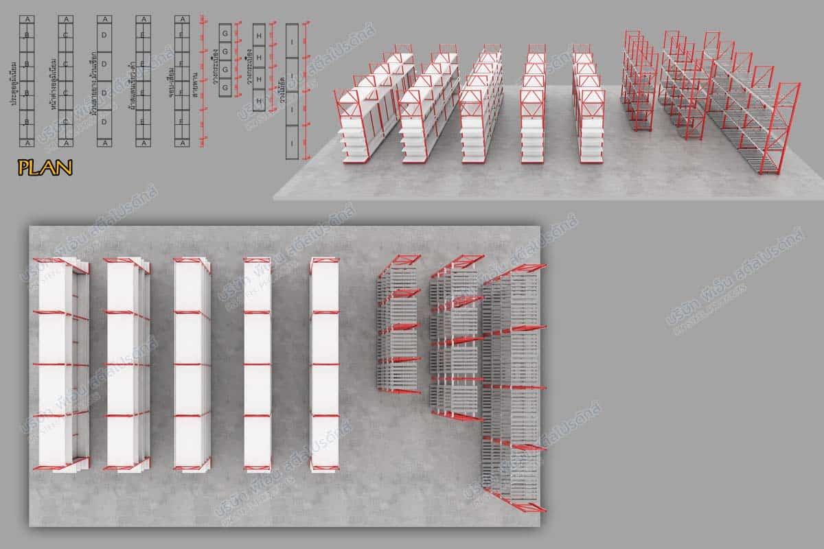 ภาพ layout ชั้นวางสินค้า สามมิติ ร้านพรชัยโฮมเซ็นเตอร์