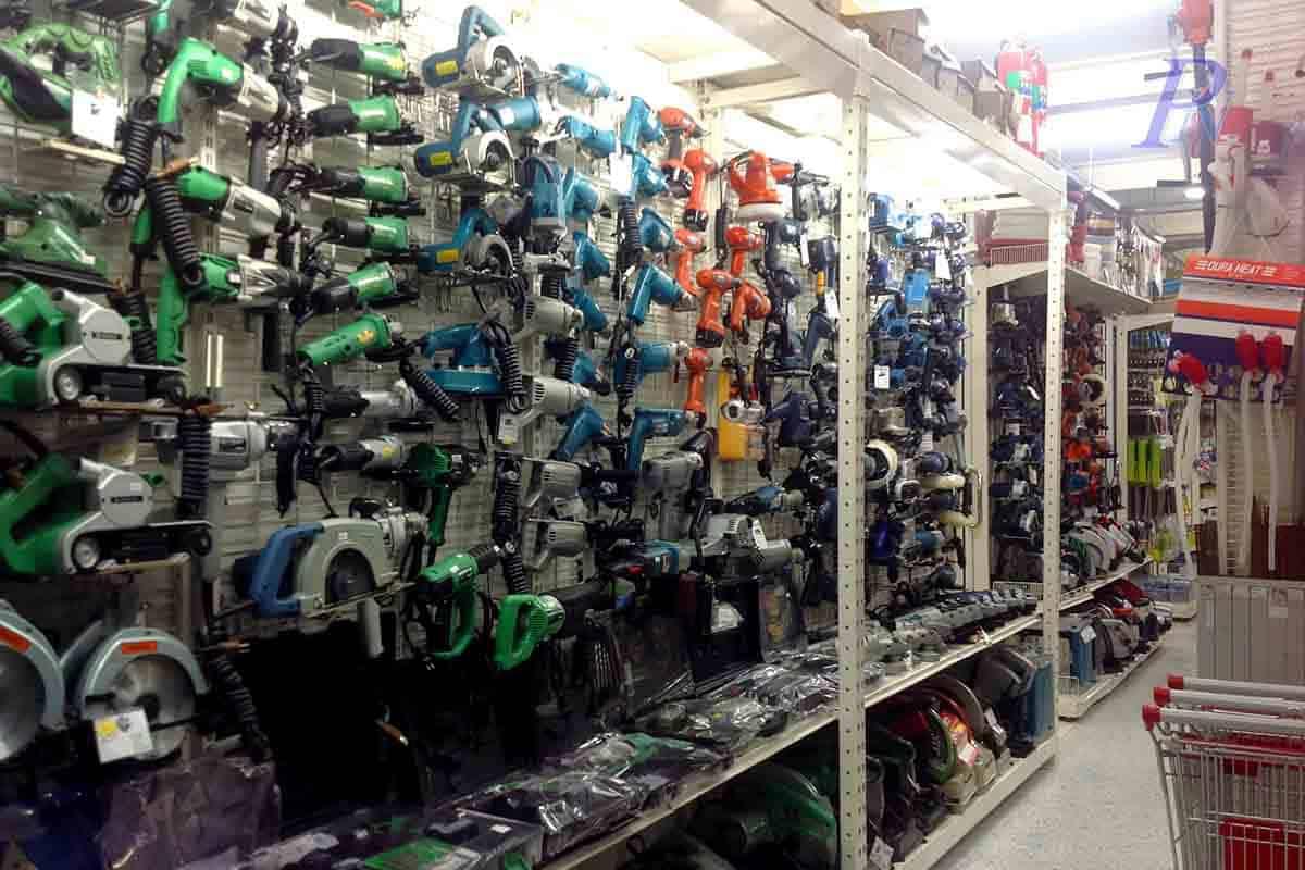 ชั้นแขวนฮุกขายอุปกรณ์เครื่องมือช่าง