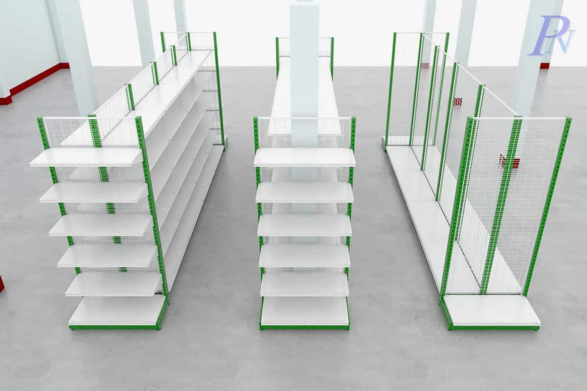 ออกแบบชั้นวางสินค้าสีเขียว โดย PN
