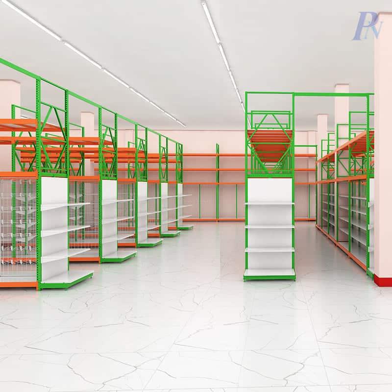 ชั้นวางสินค้า Integrated ร้าน Hardware King