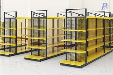 ชั้นวางสินค้า Integrated สีเหลือง