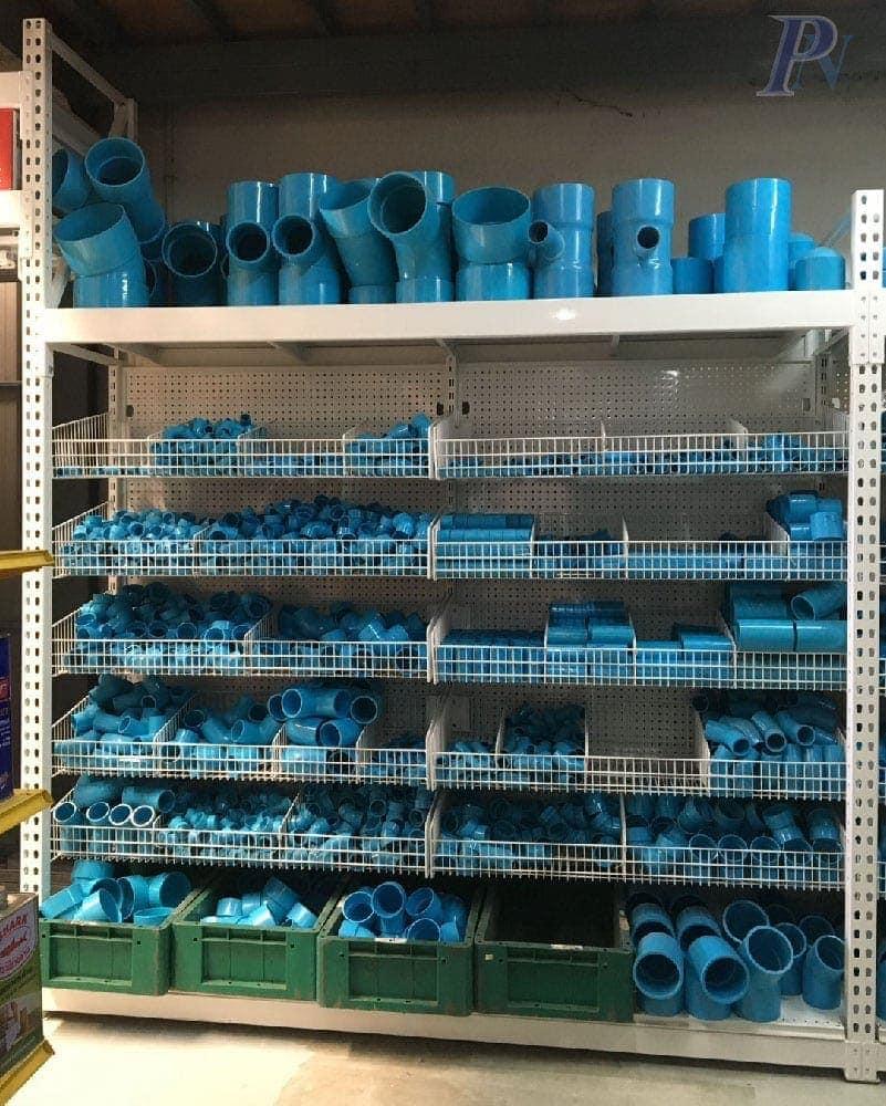 ชั้นวางสินค้าข้อต่อท่อ PVC 3