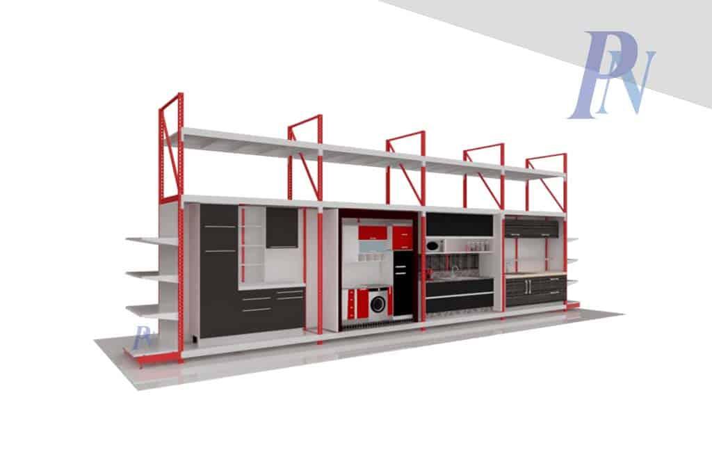 ร้านห้าแยกกรุ๊ป ภาพ 3D แร็คโชว์เครื่องครัว