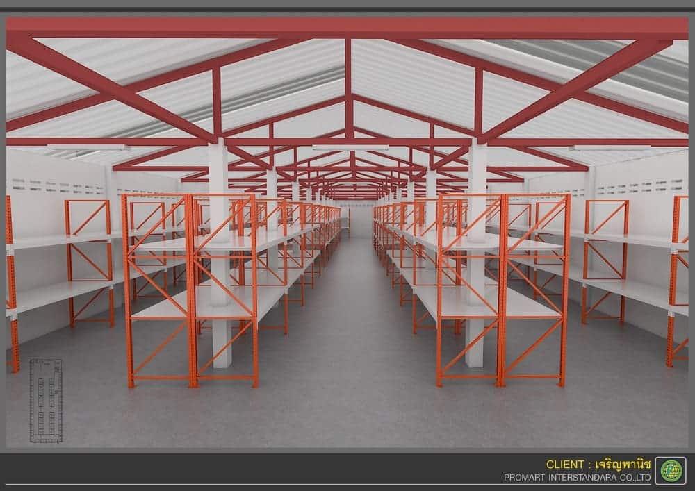 ภาพชั้นวางสินค้า3D ร้านเจริญพานิช หน้าร้าน ชั้น3