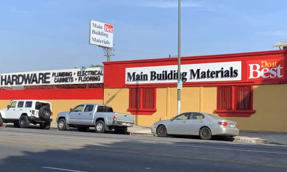 แบบร้านวัสดุก่อสร้าง Main Building Materials