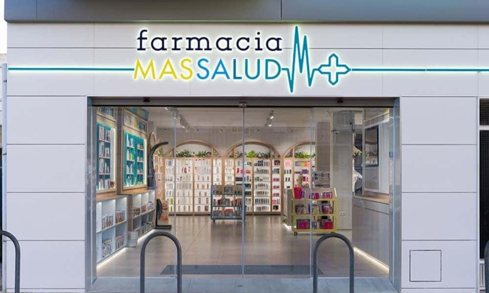 แบบร้านขายยา Massalud ป้ายหน้าร้าน
