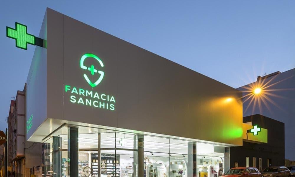 แบบป้ายร้านขายยา Sanchis