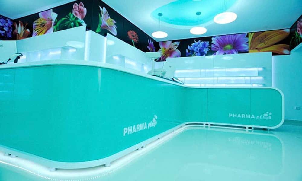 เคาน์เตอร์ใน แบบร้านขายยา Pharma Plus