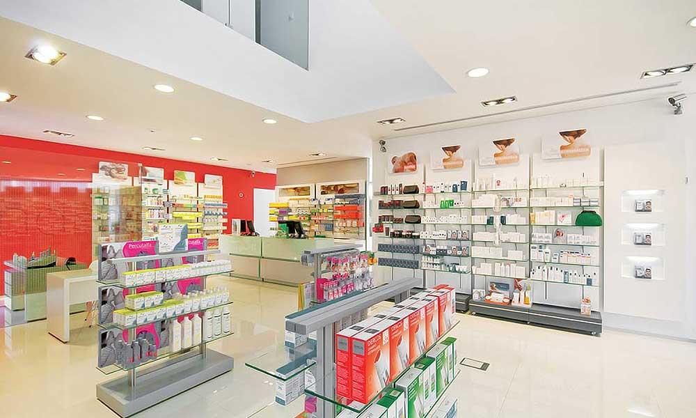 ร้านขายยา Farmácia Saraiva ภายในร้าน