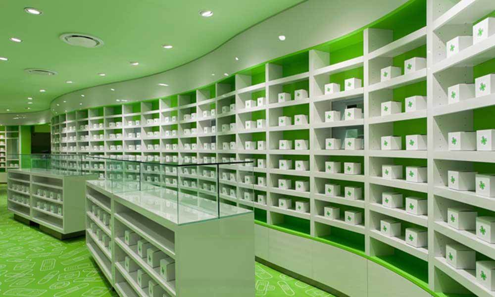 เคาน์เตอร์ในแบบร้านขายยา Careland Pharmacy