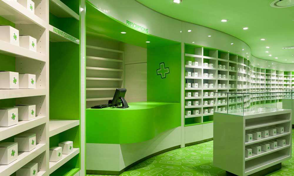 การออกแบบร้านขายยา Careland Pharmacy
