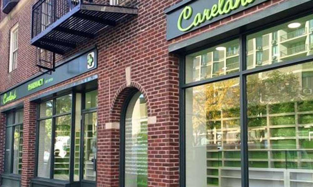 หน้าร้านแบบร้านขายยา Careland