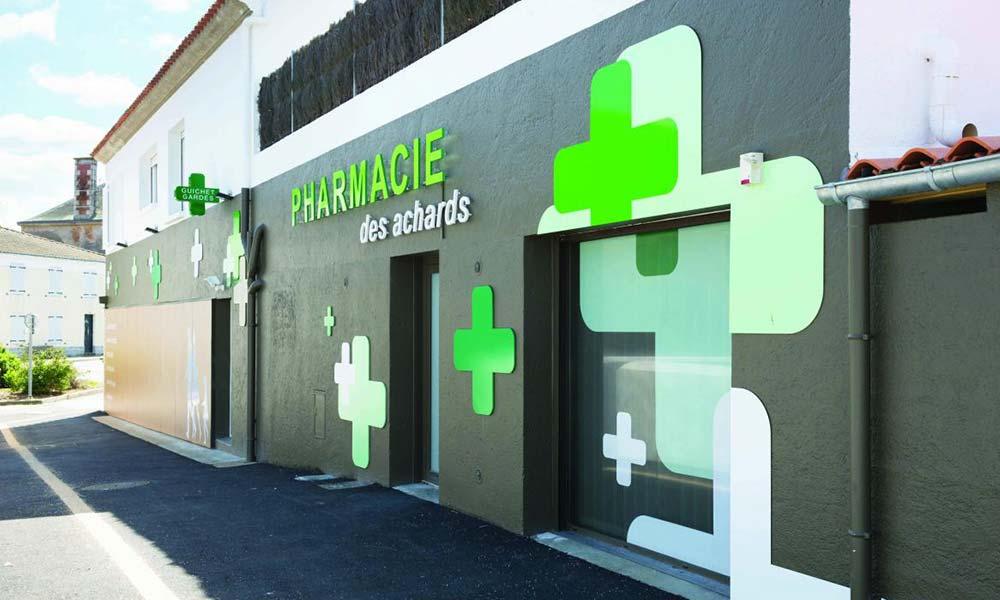 หน้าร้านแบบร้านขายยา Dumoulin