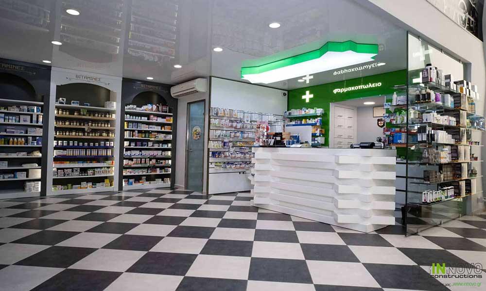 การออกแบบร้านขายยา Piraeus