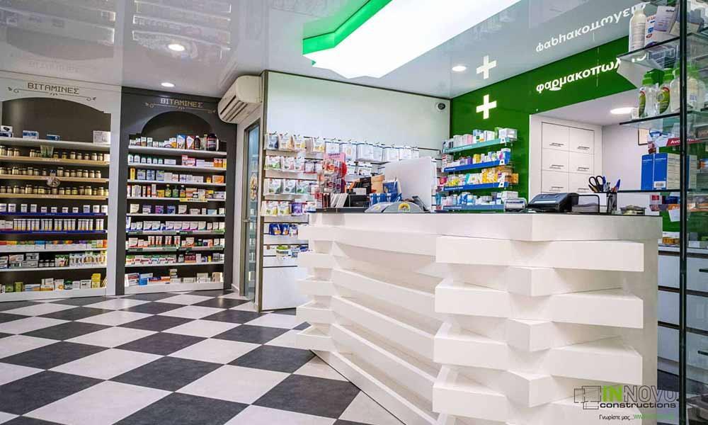 ภายในร้านขายยา Piraeus