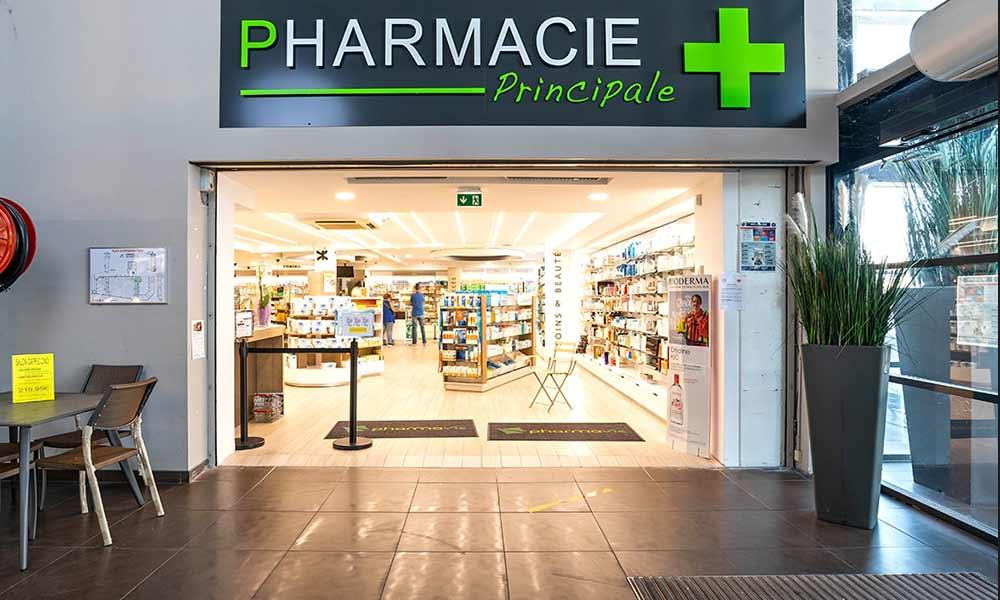 แบบร้านขายยา Principale ป้ายหน้าร้าน