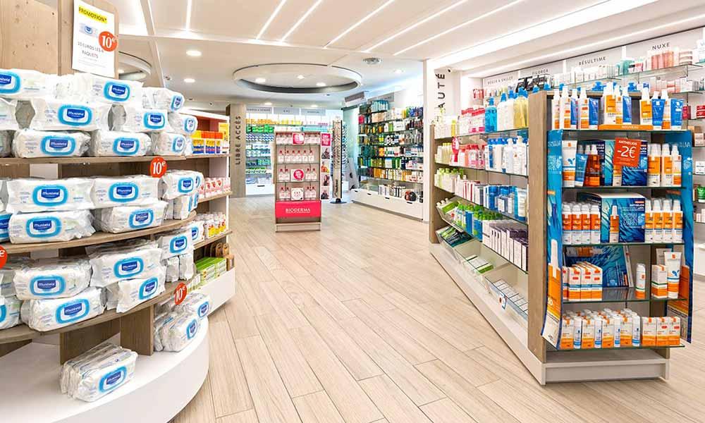 แบบร้านขายยา Principale ภายในร้าน