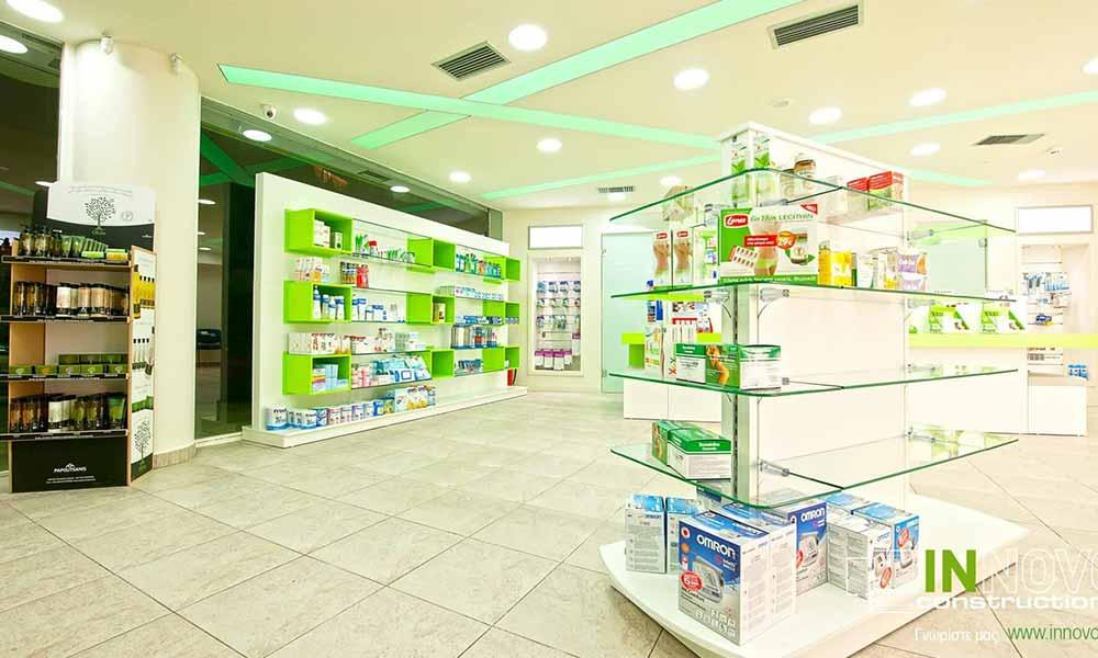 ด้านในร้านขายยาใน Perama