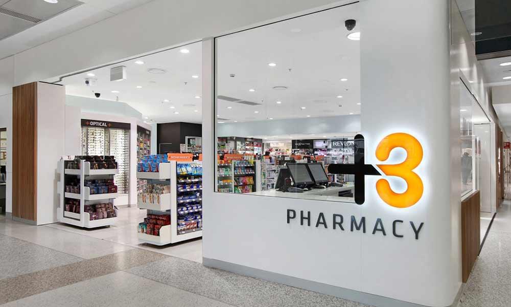 แบบป้ายร้านขายยา T3 Pharmacy