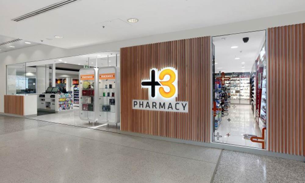 หน้าร้านขายยา T3 Pharmacy