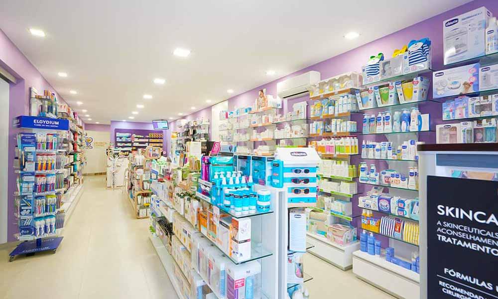 แบบร้านขายยา Farmácia Central ร้านทั้งหมด