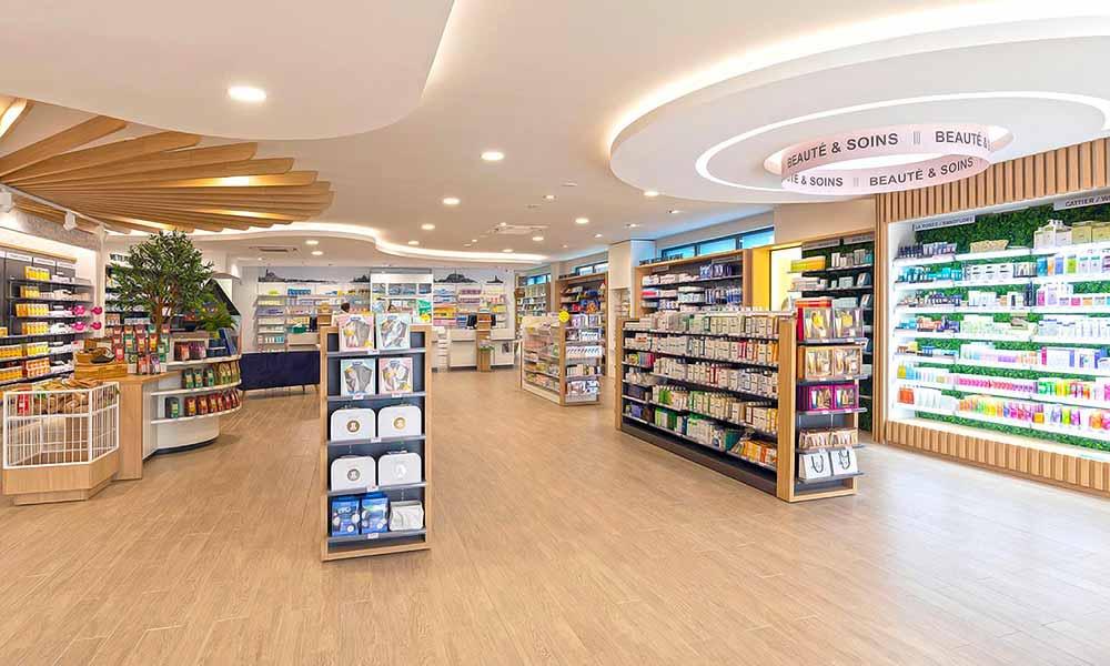 แบบร้านขายยา Pharmacie Du Pole sante ภายในร้าน