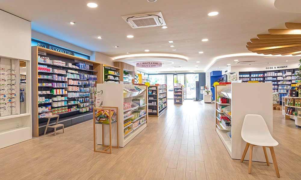แบบร้านขายยา Pharmacie Du Pole sante ร้านทั้งหมด